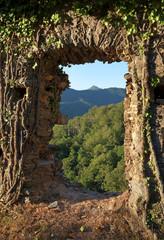 ancien village et forêt de Castagniccia en haute Corse