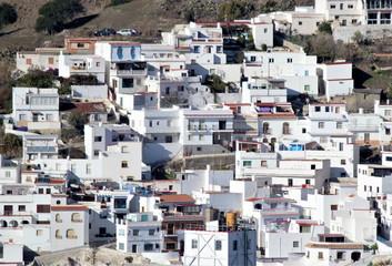 Photograph of Salobreña, white village of Granada, in the Mediterráneao, Andalusia, Spain,