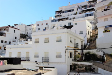Photograph of Salobreña, white village of Granada, in the Mediterráneao, Andalusia, Spain,