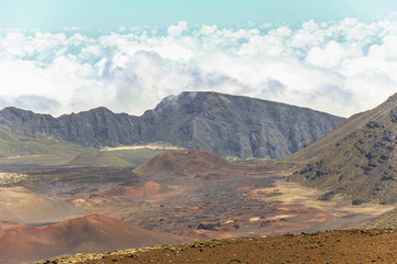View on crater on top of Haleakala volcano, Maui