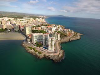 Oropesa de Mar (Castellon, Comunidad Valenciana) Foto aerea con Drone en España