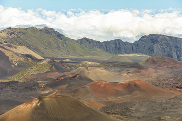 Crater landscape of Haleakala volcano on Maui