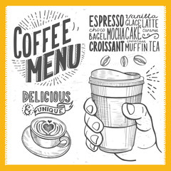 Coffee poster for restaurant.