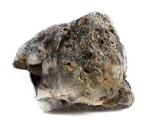 Natural mineral stone -  black flint stone