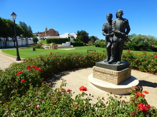 Palos de la Frontera. Pueblo de Huelva (Andalucia, España) Descubrimiento de America de Cristobal Colon