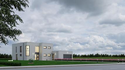 Modernes Haus als Bauhaus Neubau