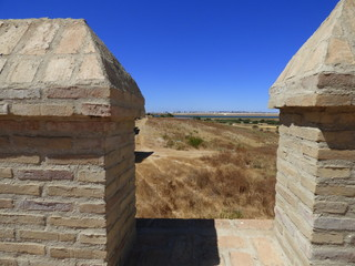 Palos de la Frontera en Huelva (Andalucia, España) Descubrimiento de America de Cristobal Colon