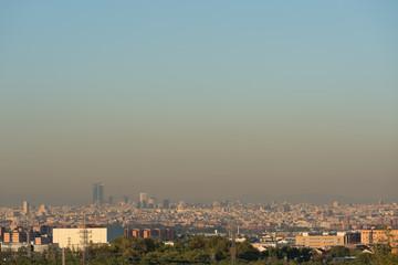 Vista de la contaminación sobre Madrid