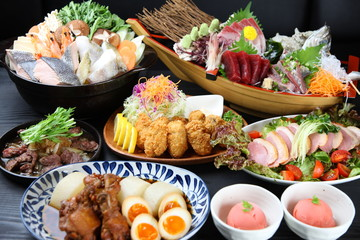Various Japanese Izakaya Dishes