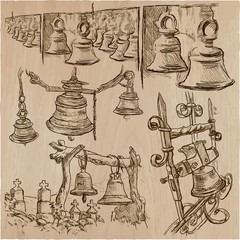 bells - an hand drawn vector pack, freehand sketchiing