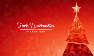 Weihnachten Tannenbaum - Rot DE