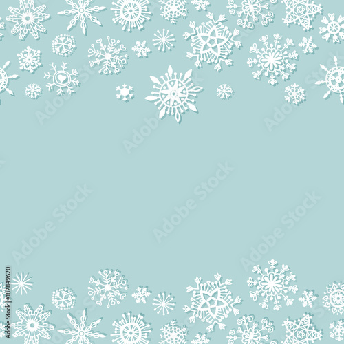 simple christmas background with snowflakes