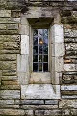 Old stone house window