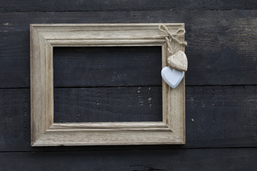 Wooden Texture Wall and Picture Frame