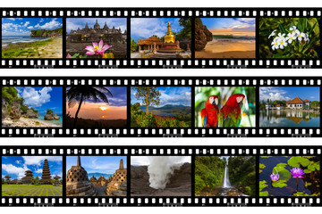 Frames of film - Bali Indonesia travel images (my photos)