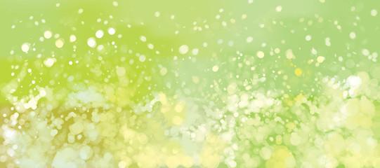 Vector green, bokeh, lights background.