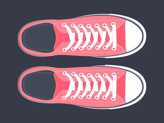 Sport shoes vector illustration