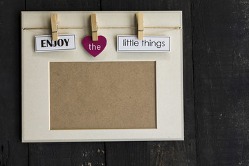 Enjoy The Llittle Things Picture Frame