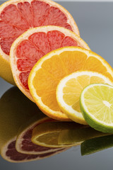Wall Murals Slices of fruit orange slices