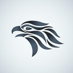 Hawk vector logo icon illustration