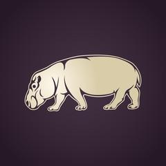 Hippo vector logo icon illustration