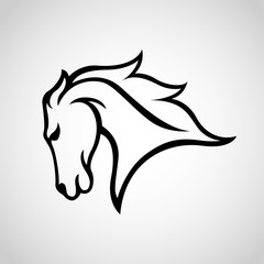 Horse Logo vector icon illustration