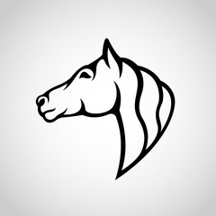 Horse Logo vector icon illustration