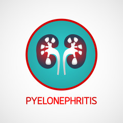 Pyelonephritis vector logo icon illustration