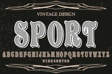 Typeface, Script, Old style - vintage,vector letters,vintage,labels,illustration