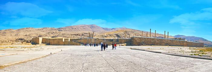 Panorama of ancient Persepolis, Iran