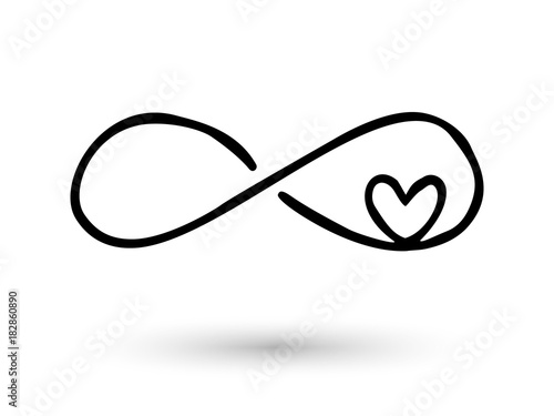 Infinity Symbol Hand Drawn With Ink Brush Stock Image And Royalty