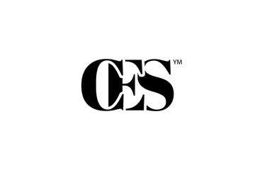 Fototapeta CES Logo Branding Letter. Vector graphic design. Useful as app icon, alphabet combination, clip-art, and etc. obraz