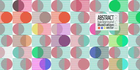 Background abstract geometric multicolored of circles and stripes vector lines