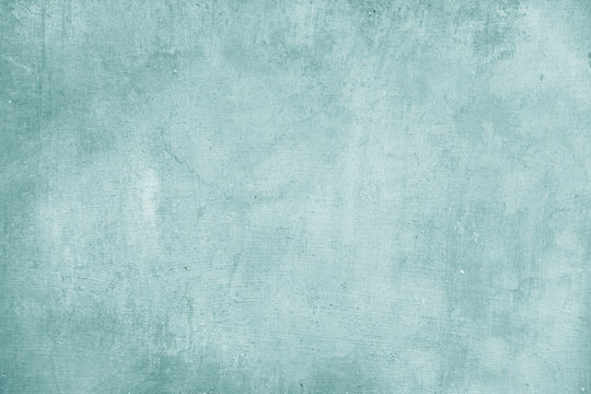 Empty turquoise and Blue Background for Design and Design Color Tiffany. Blue Background from Plaster, For Design, Decoration and Templates
