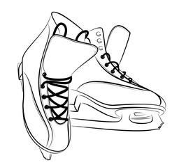 Sketch of the figured skates.