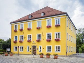 the town hall Bad Tolz Bavaria Germany