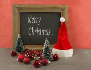 christmas blackboard text