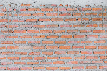 TEXTURE OF CONSTRUCTION BRICK WALL BACKGROUND HOUSE CONSTRUCTION CONCEPT