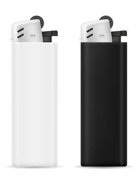 plastic disposable lighter vector illustration