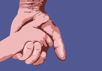 main - enfant - père - fils - amour - aimer - symbole - protection - protéger - tenir la main - génération