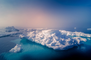 Greenland : amazing iceberg on the sea, we can still see this before complete climate change