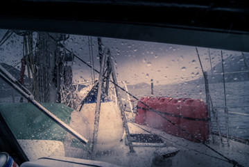 Sailing: while it's raining
