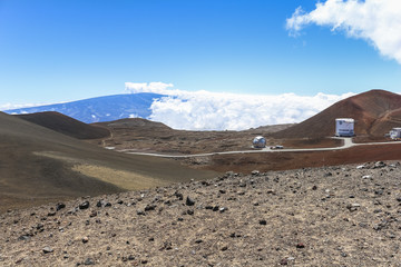 Summit of Mauna Kea on Hawaii Big island