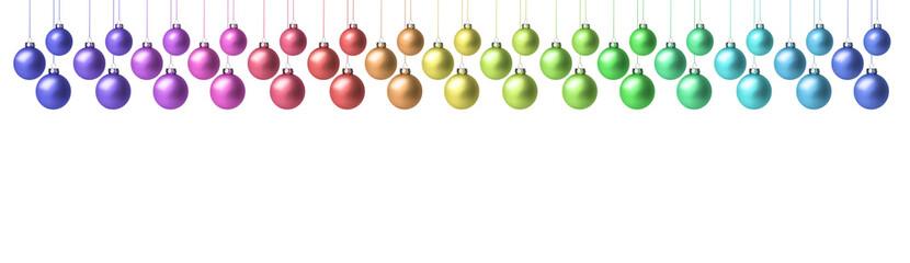 Weihnachtskugeln in Pastell