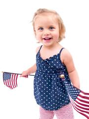 Little Girl and Flag