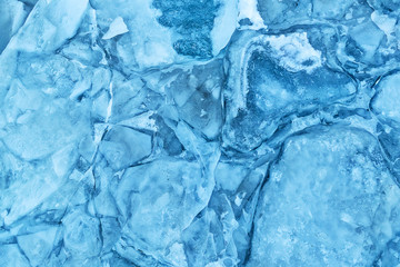 Texture of glacier ice in close-up detail