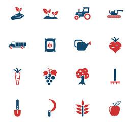 agricaltural icon set
