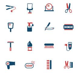 barbershop color icon set