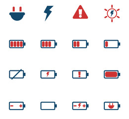 battery color icon set