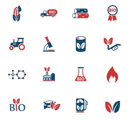 bio fuel color icon set